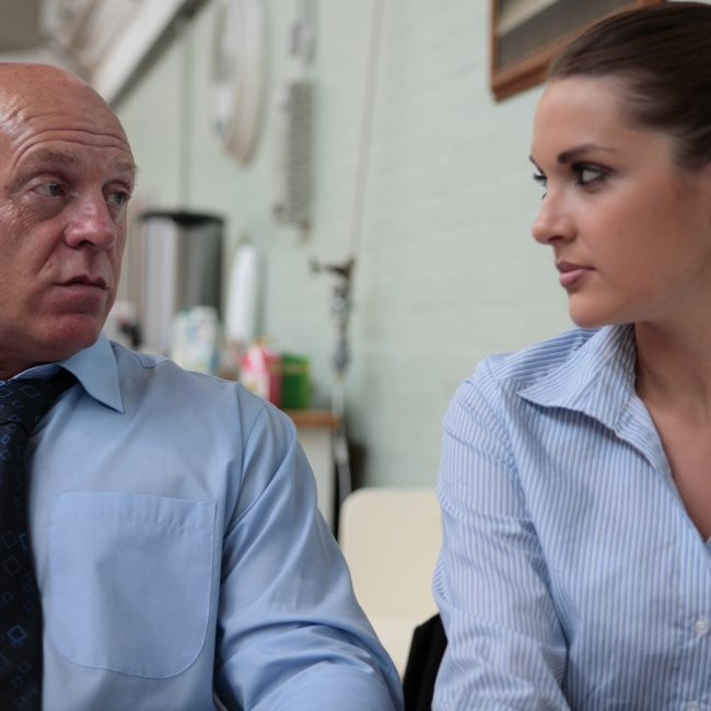 Lane (Mel Mills) and Egan (Anna Passey) see eye to eye